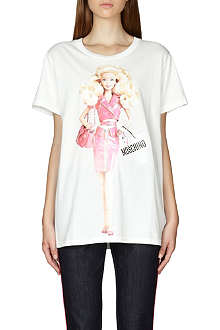 MOSCHINO Barbie-print cotton t-shirt