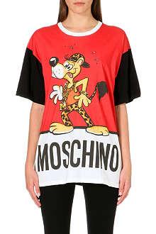 MOSCHINO Leopard Dog cotton-jersey t-shirt