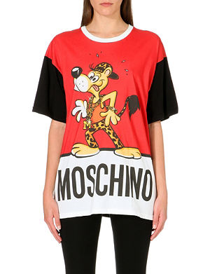 MOSCHINO Leopard Dog cotton-jersey t-shirt