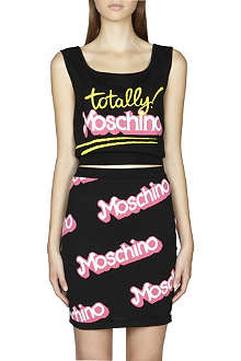 MOSCHINO Totally Moschino knitted cropped top