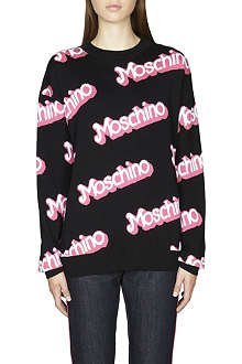 MOSCHINO Logo-detail cotton jumper