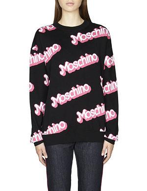 MOSCHINO Logo-detail cotton jumper