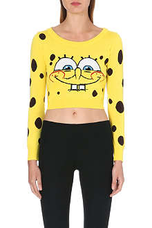 MOSCHINO Spongebob cropped jumper
