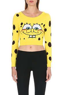 MOSCHINO Spongebob cropped jumper