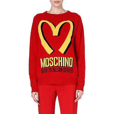 MOSCHINO M knitted sweatshirt (Red