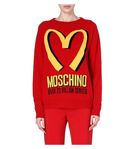 MOSCHINO M knitted sweatshirt (Red