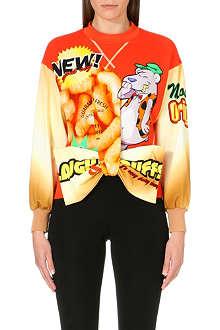 MOSCHINO Cheese Puff bow-detail sweatshirt