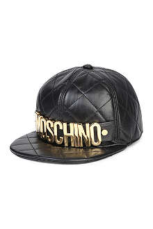 MOSCHINO Nappa leather logo cap