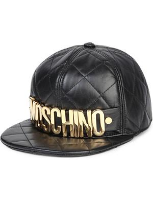 MOSCHINO Nappa leather logo cap