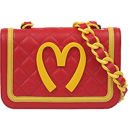 MOSCHINO Quilted leather shoulder bag (Red