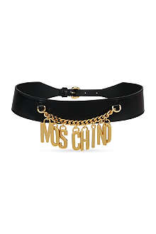 MOSCHINO Logo chain belt