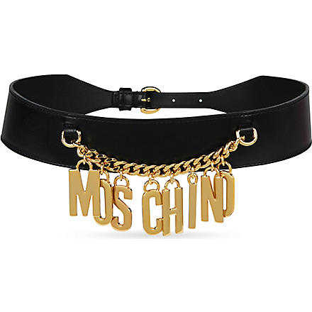 MOSCHINO Logo chain belt (Blk