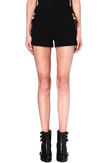 MOSCHINO High-waisted quilted shorts