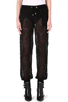 MOSCHINO Floral lace trousers