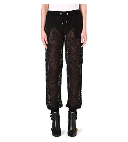 MOSCHINO Floral lace trousers (555