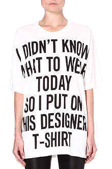 MOSCHINO Monochrome slogan t-shirt