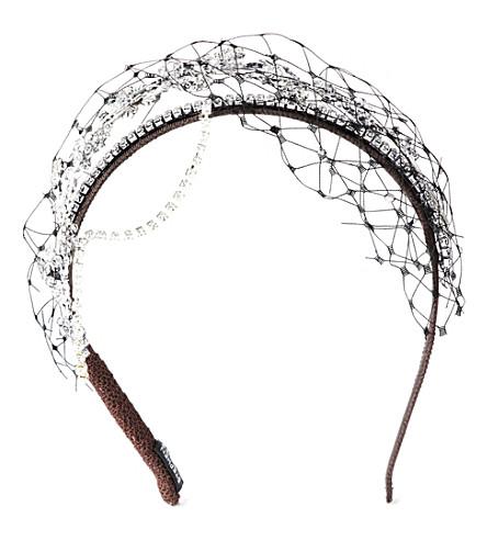STEPHEN JONES Miu Miu bead-detail headband (Silver