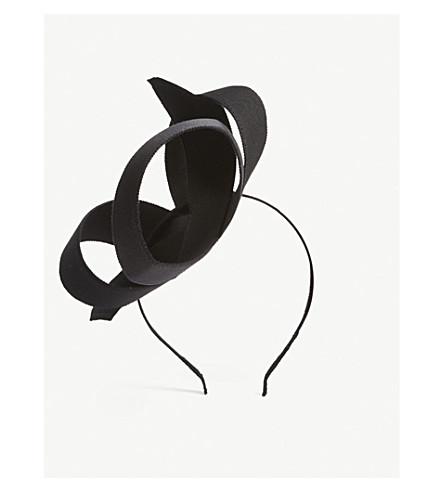 STEPHEN JONES Toile fascinator (Black