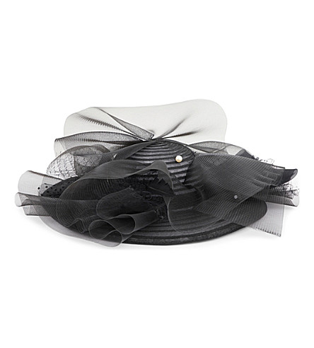 STEPHEN JONES Blackout straw and tulle hat (Blacks