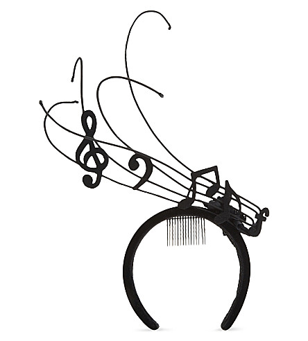STEPHEN JONES Musical Note headband (Black