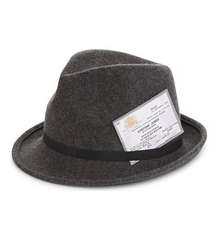 STEPHEN JONES Music Matters trilby (Charcoal+mix