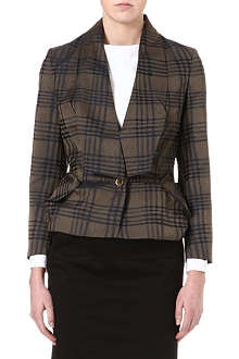 VIVIENNE WESTWOOD Checked peplum-detail jacket