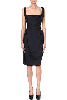 VIVIENNE WESTWOOD Square neckline crepe dress