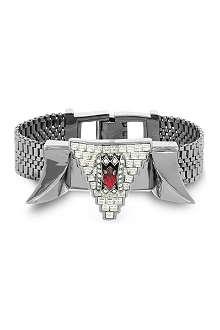 MAWI Crystal-embellished hematite bracelet