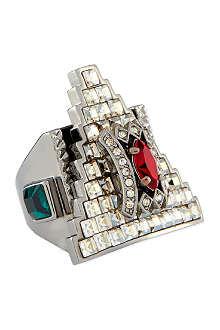 MAWI Crystal embellished ring