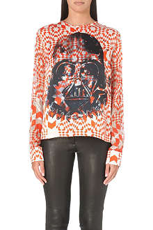 PREEN Darth Vader geometric print top