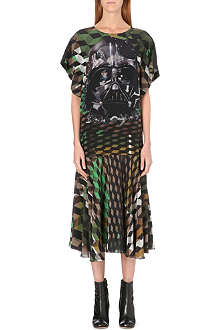 PREEN Darth Vader silk dress