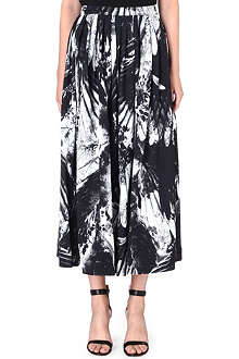 PREEN Floral stretch-crepe skirt