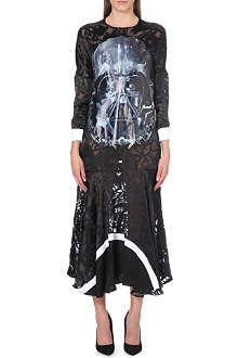 PREEN Darth Vader silk-blend dress
