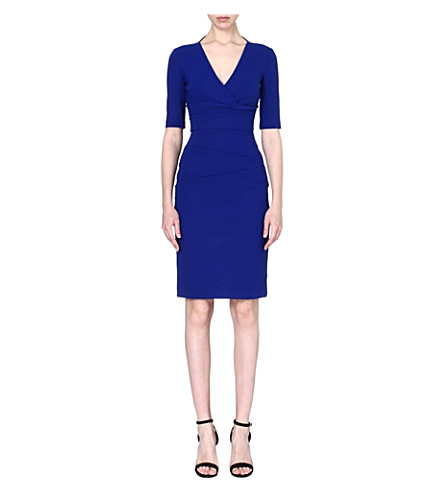 PREEN BY THORNTON BREGAZZI Cut-out v-neck dress (Blue