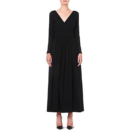 PREEN Bergman maxi dress (Black