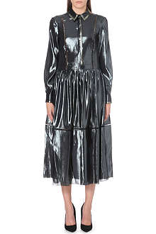 PREEN Solo metallic shirt dress