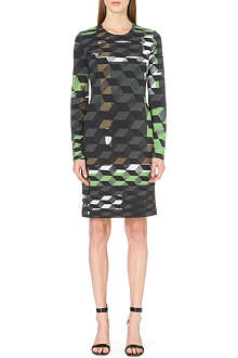 PREEN Iris geo-print jersey dress