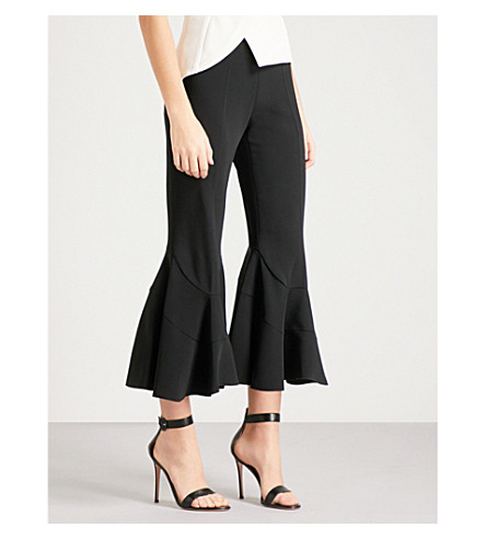 ANTONIO BERARDI Maurizio flared high-rise stretch-crepe trousers (Black