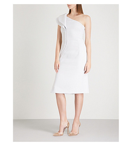 ANTONIO BERARDI Marianna one-shoulder crepe dress (Grey