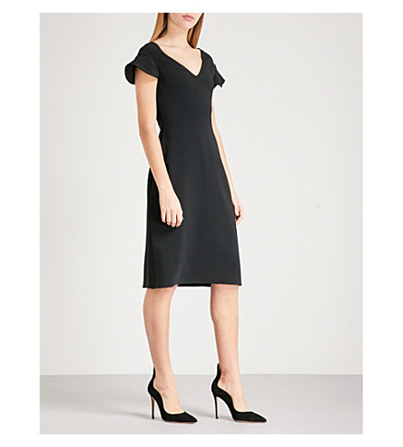 ANTONIO BERARDI Marisa crepe dress (Black