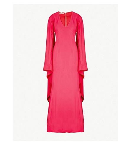 ANTONIO BERARDI Marilena V-neck maxi dress (Open+pink