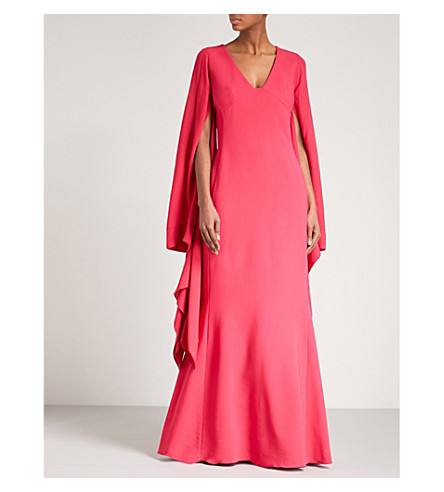ANTONIO BERARDI Marilena V-neck maxi dress (Open+pink