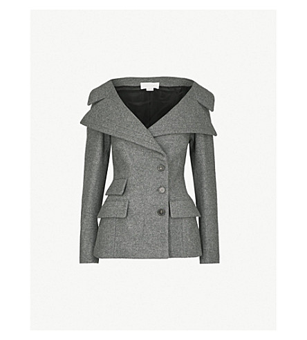 ANTONIO BERARDI Neffa virgin wool and cashmere-blend jacket (Grigio
