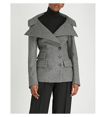 ANTONIO BERARDI Neffa virgin wool and cashmere-blend jacket (Grigio