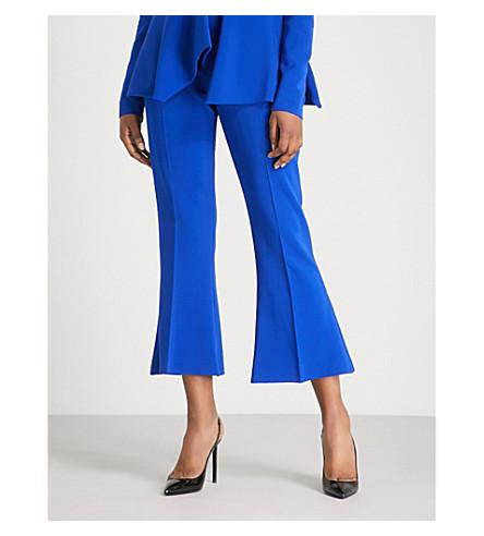 ANTONIO BERARDI Maffeo flared cropped high-rise crepe trousers (Bluette
