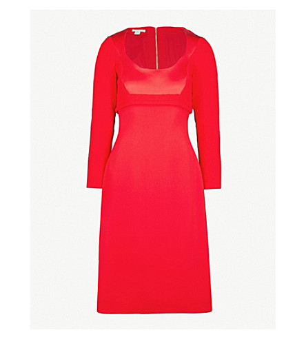 ANTONIO BERARDI Nilde scoop-neck crepe dress (Medium red