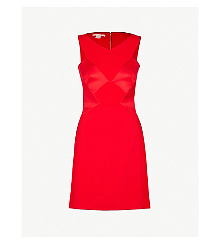 ANTONIO BERARDI Novella crepe mini dress (Medium red