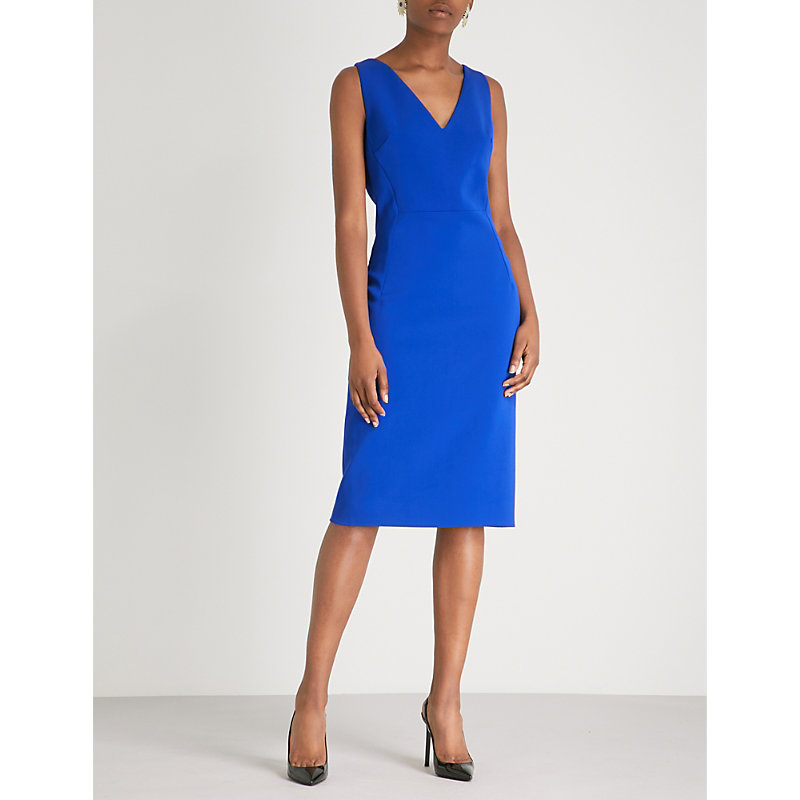 ANTONIO BERARDI Nerella V-neck crepe dress