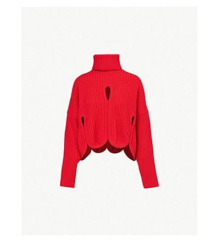 ANTONIO BERARDI Notte wool and cashmere-blend turtleneck jumper (Medium red