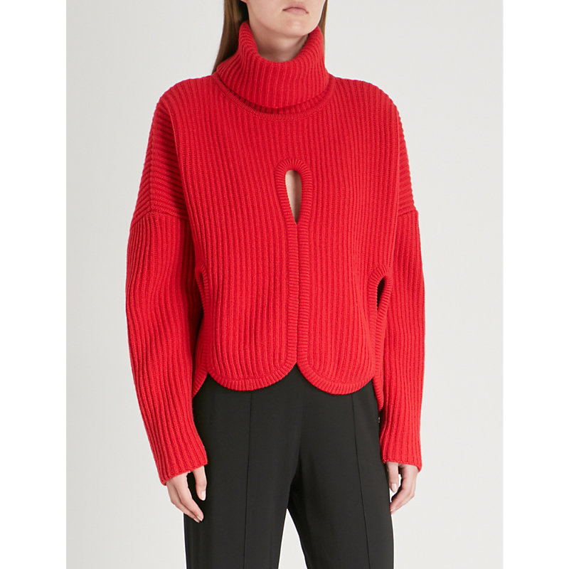 ANTONIO BERARDI Notte wool and cashmere-blend turtleneck sweater